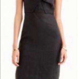J. Crew Dresses - J Crew NWT Black Drape Knot linen dress